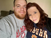 Angie Smith with her husband