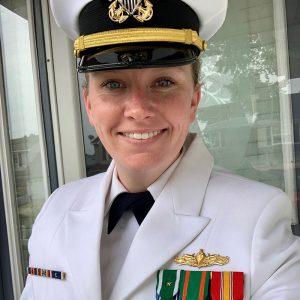 Amber Beale in Navy uniform
