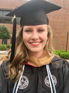 Amber Beale at graduation