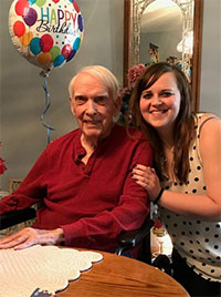 Lacey Lee with her grandfather