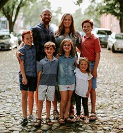 Adam Linn with his family