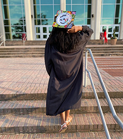 Aireal Williams at graduation