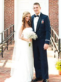 Sarah Williams with her husband