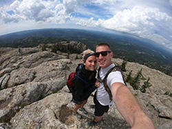 Sarah Williams on a mountain top