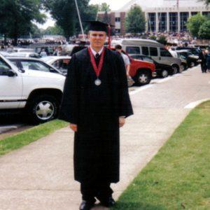 Michael at his undergraduate graduation