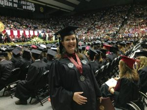 Alyson, pregnant at graduation