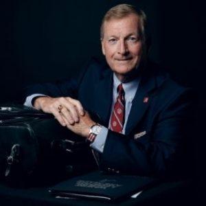Keith Norton with a briefcase
